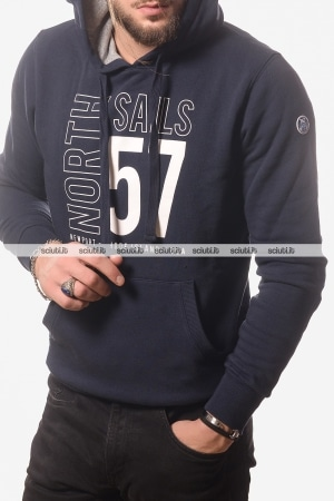 Felpa North Sails uomo graphic logo blu navy