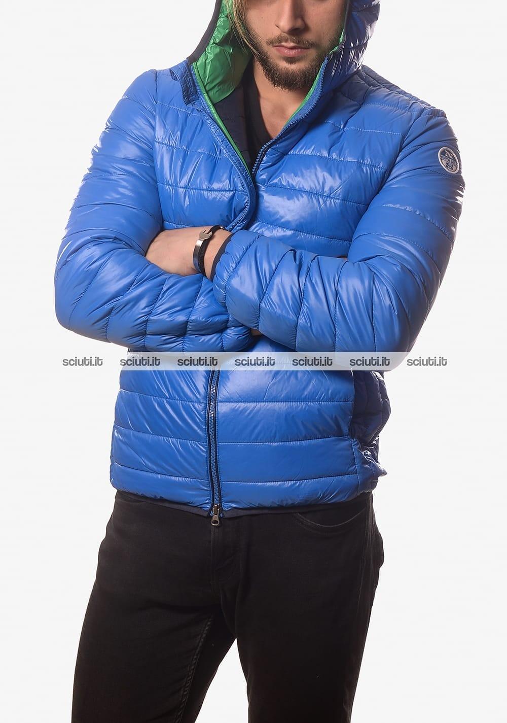 best loved b53ed 6717e Piumino North Sails uomo con cappuccio blu royal
