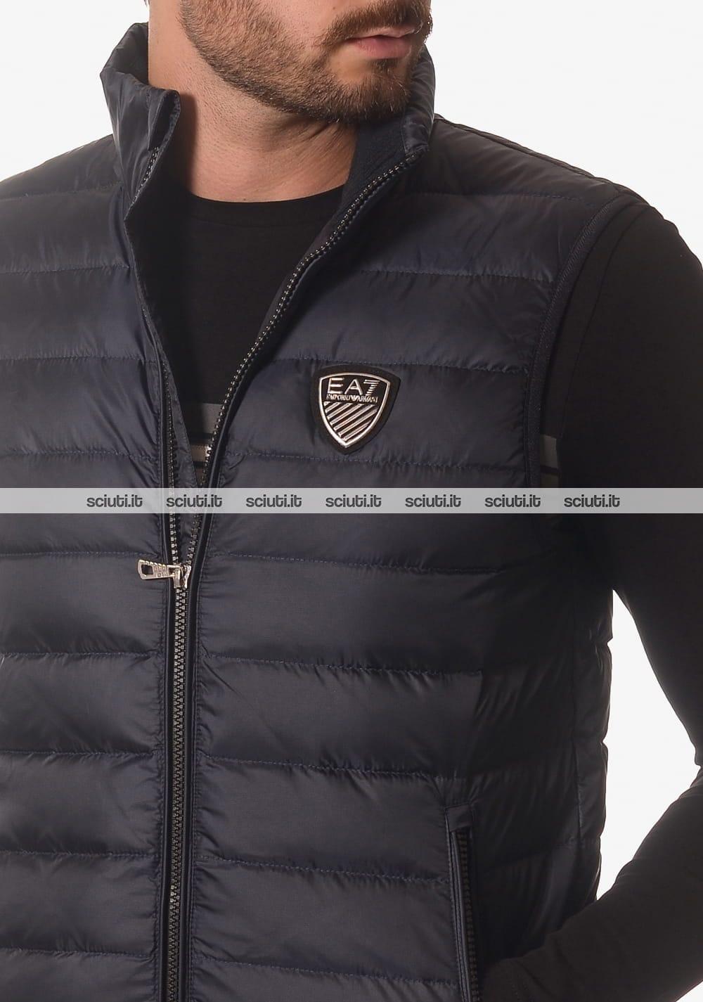 premium selection 5def2 7927c Smanicato Emporio Armani uomo tessuto tecnico blu scuro ...