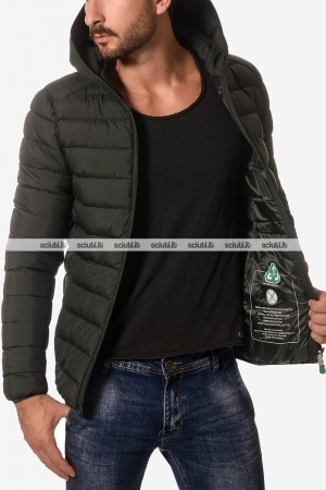 Piumino Save the duck uomo Recycled con cappuccio nero