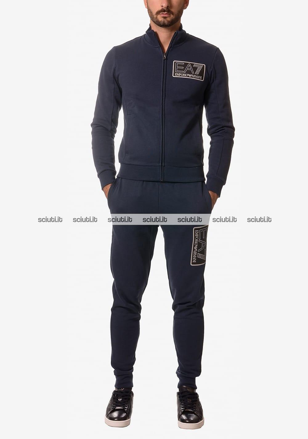 new product 3c1f6 f168d Tuta Emporio Armani uomo logo blu navy | Sciuti.it