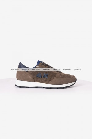 Scarpe Sun68 uomo Niki hole nabuk leather marrone