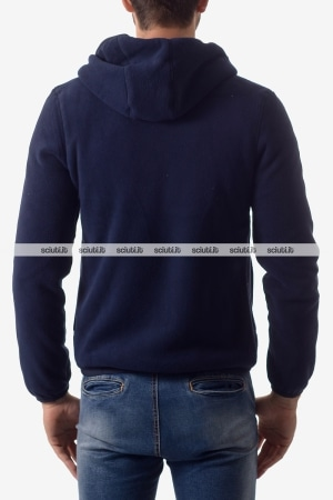 Felpa reversibile Kway uomo Jacques Polar Fleece blu scuro