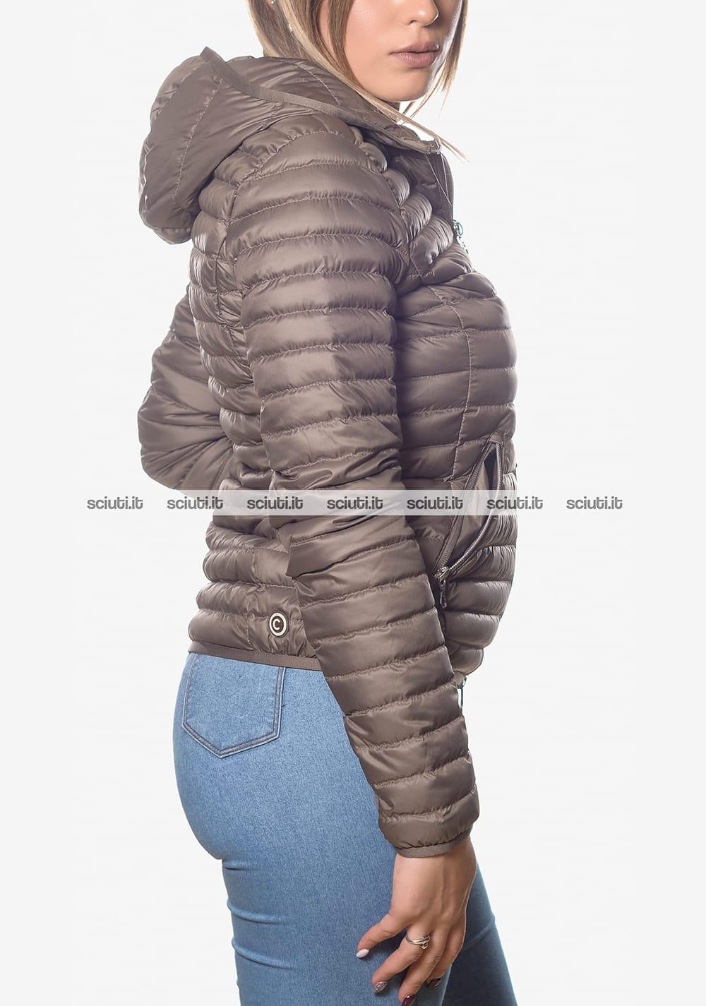 Piumino Colmar donna leggero con cappuccio tortora | Sciuti.it