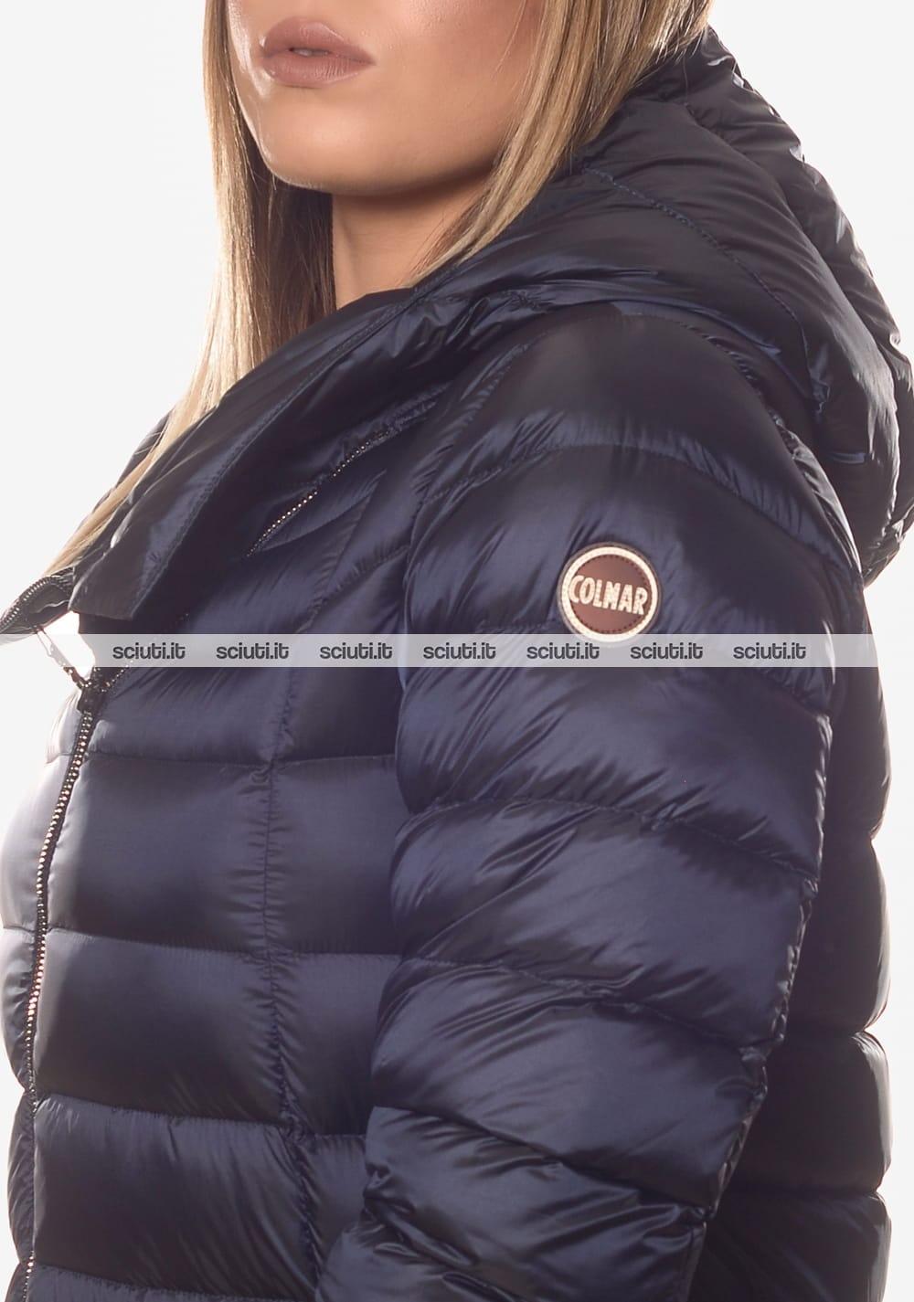 online store 9e92f dd6d6 Piumino Colmar donna pesante asimmetrico con cappuccio blu