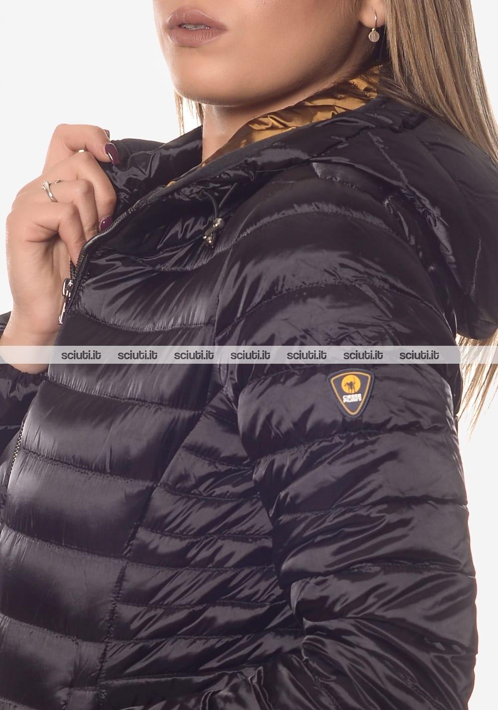 finest selection 3f595 68231 Piumino Ciesse donna Aghata satin con cappuccio nero | Sciuti.it