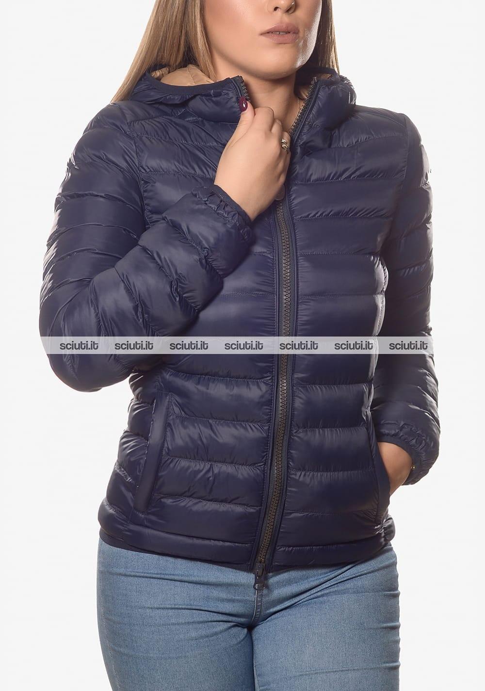 buy popular 6e870 8f5dd Piumino Invicta donna con cappuccio blu