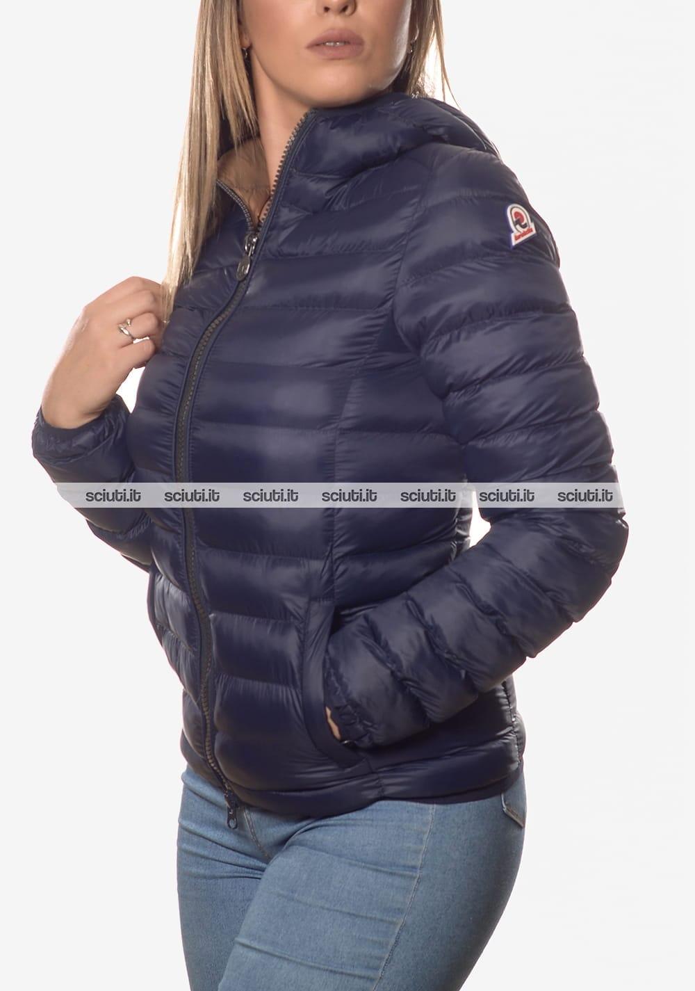 buy popular bd69d c35e7 Piumino Invicta donna con cappuccio blu