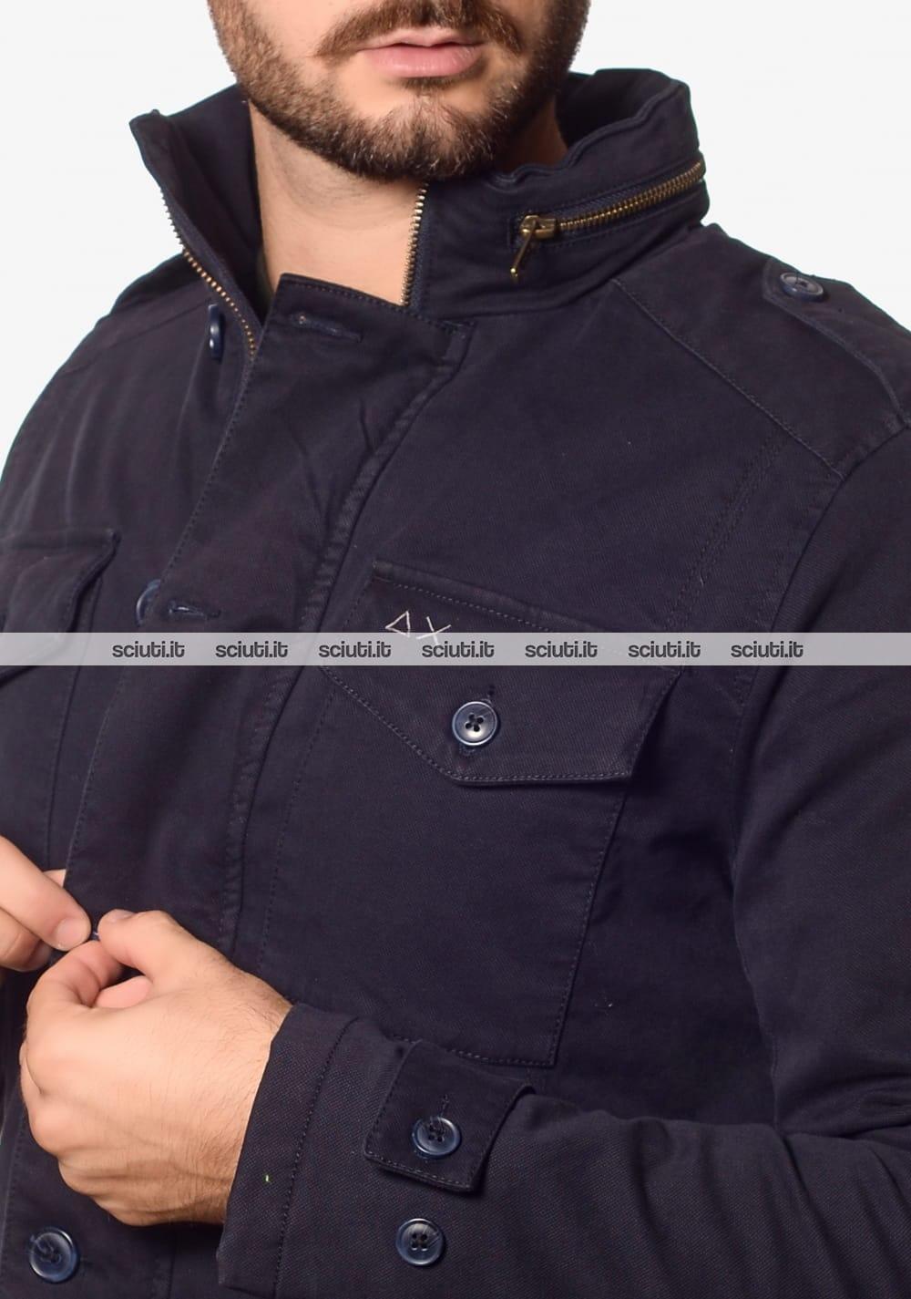 Giubbotto SUN68 uomo Field Jacket blu | Sciuti.it
