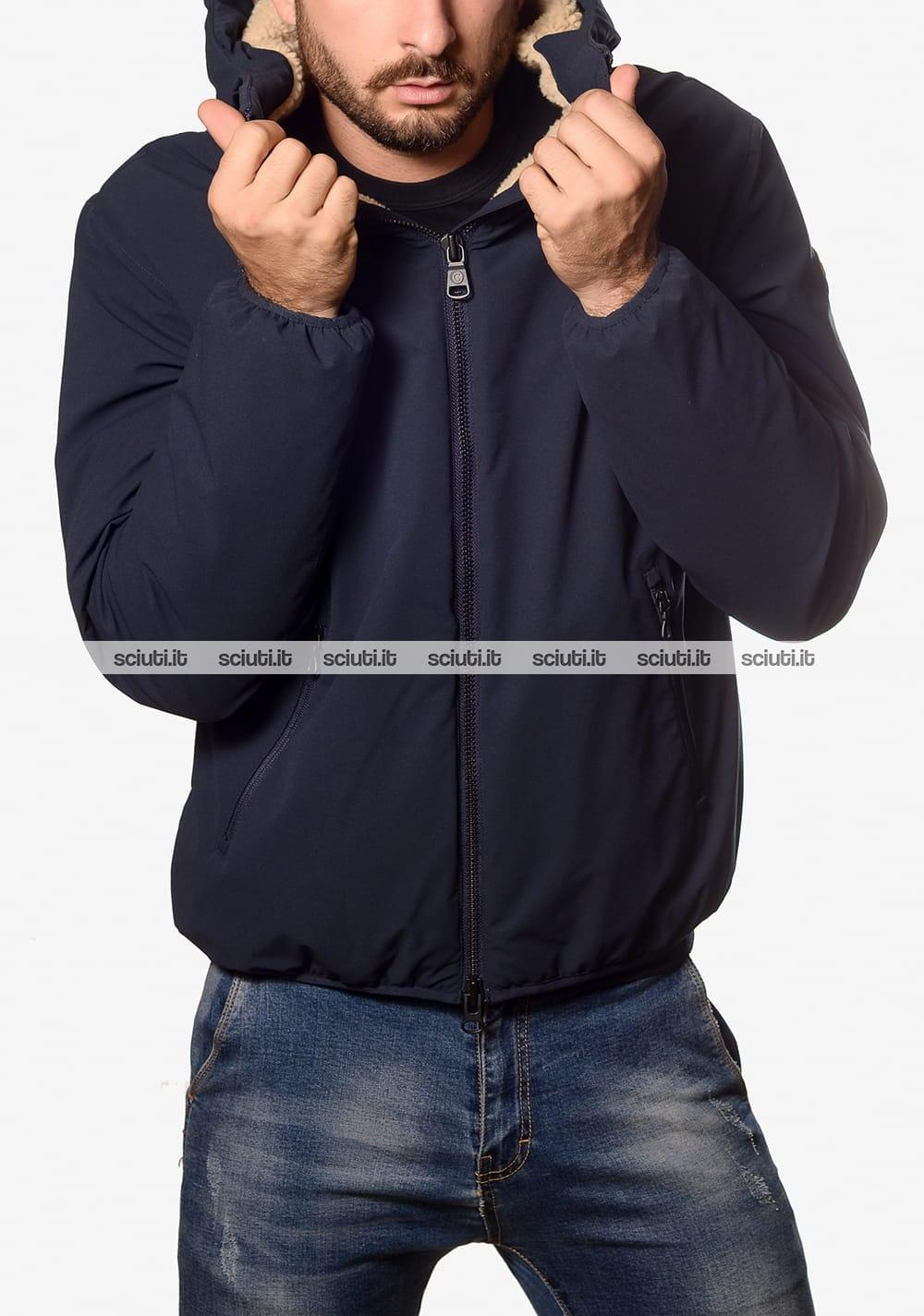 Giubbotto Colmar uomo imbottitura in teddy blu scuro | Sciuti.it