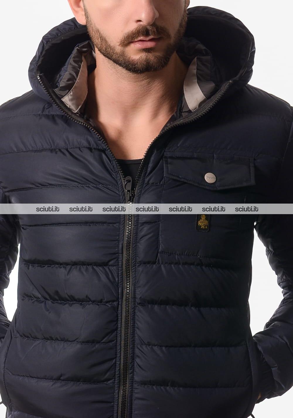 Scuro Refrigiwear Jacket Uomo Hunter Giubbotto Con Cappuccio Blu D29EIWH