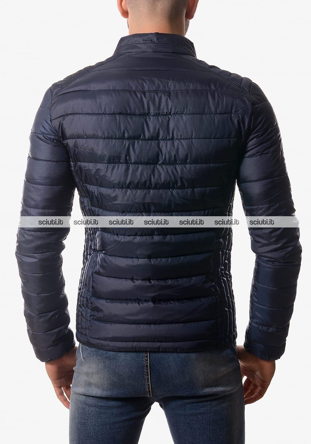 huge discount 138e8 2aa9f Piumino Guess uomo auricolari senza cappuccio blu scuro ...
