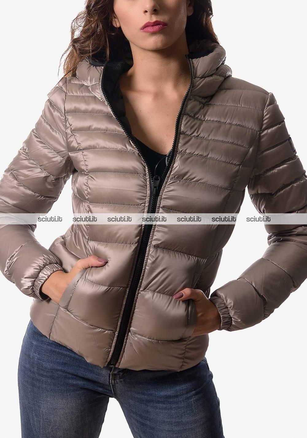 piumino refrigiwear donna mead jacket con cappuccio nero