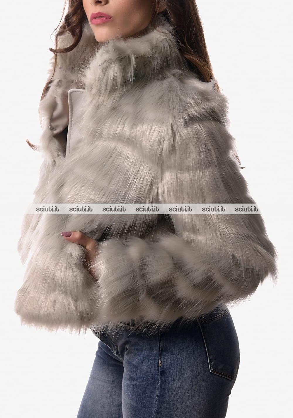 quality design 22a15 2b499 Giubbotto ecopelliccia Guess donna grigio | Sciuti.it