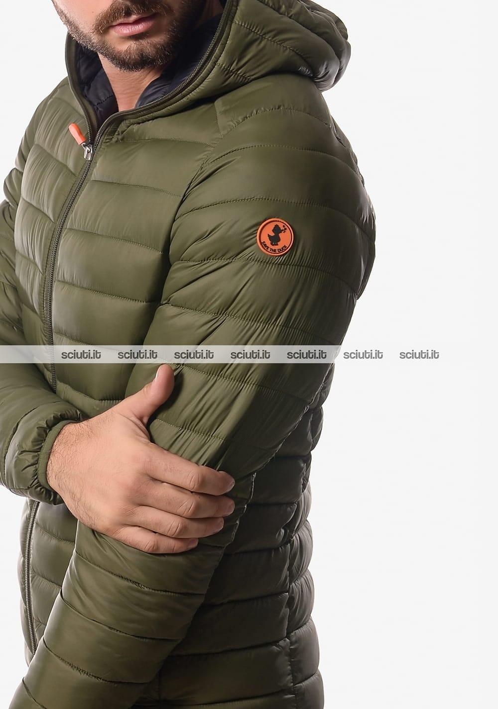 wholesale dealer 23fd9 9f239 Piumino Save the duck uomo con cappuccio verde militare ...
