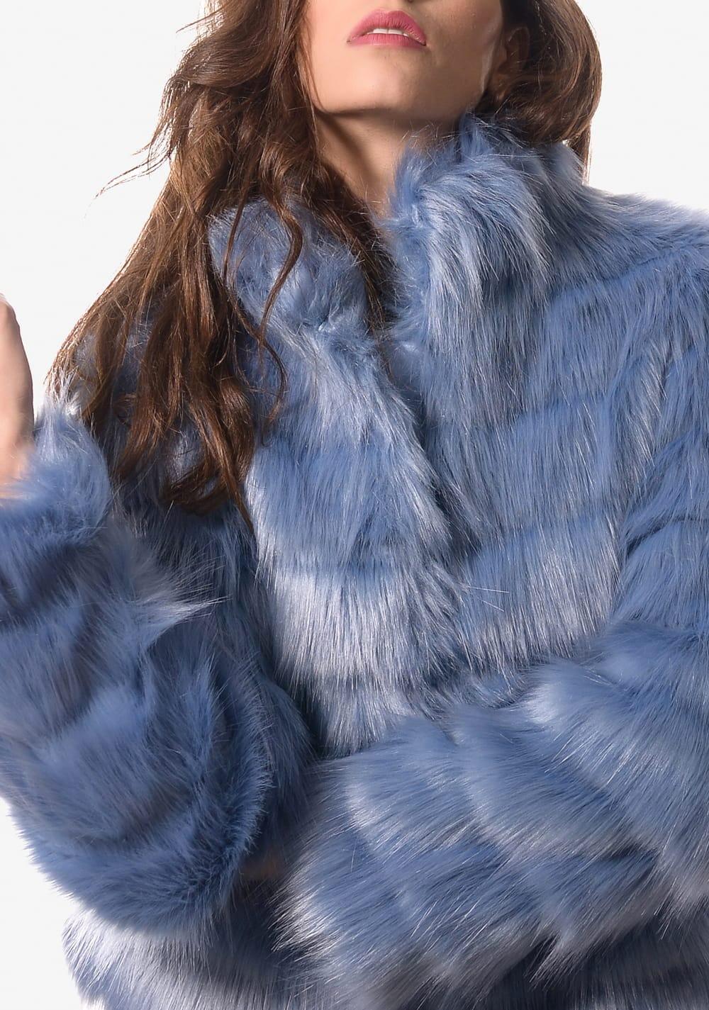 cheap for discount 1be8b 1463f Giubbotto ecopelliccia Guess donna azzurro | Sciuti.it