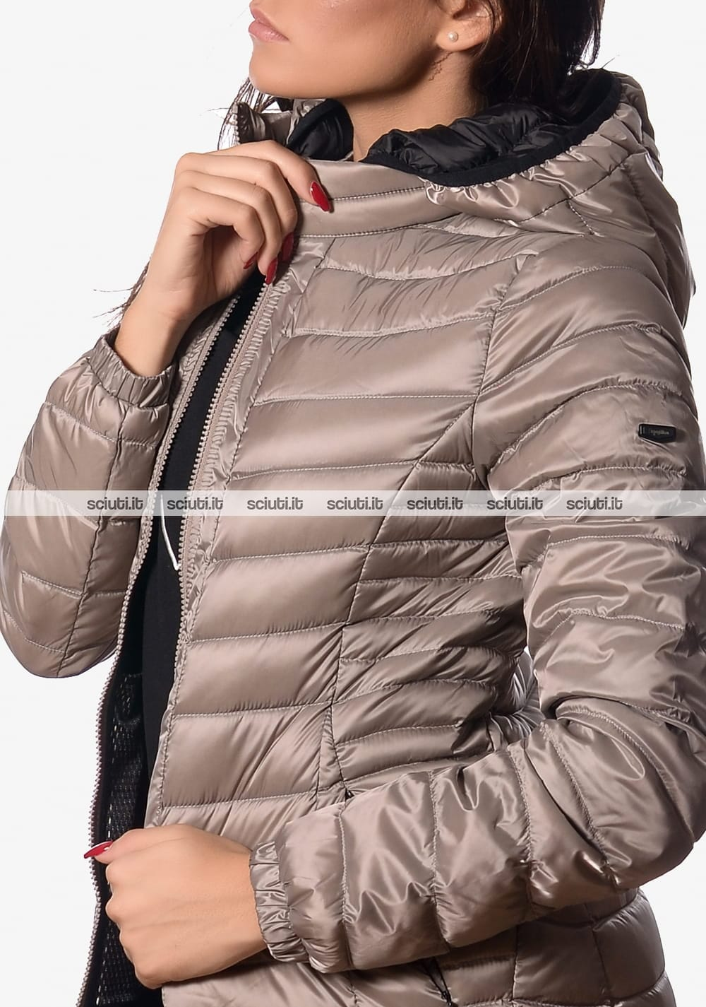 Piumino medio Refrigiwear donna long blade jacket beige
