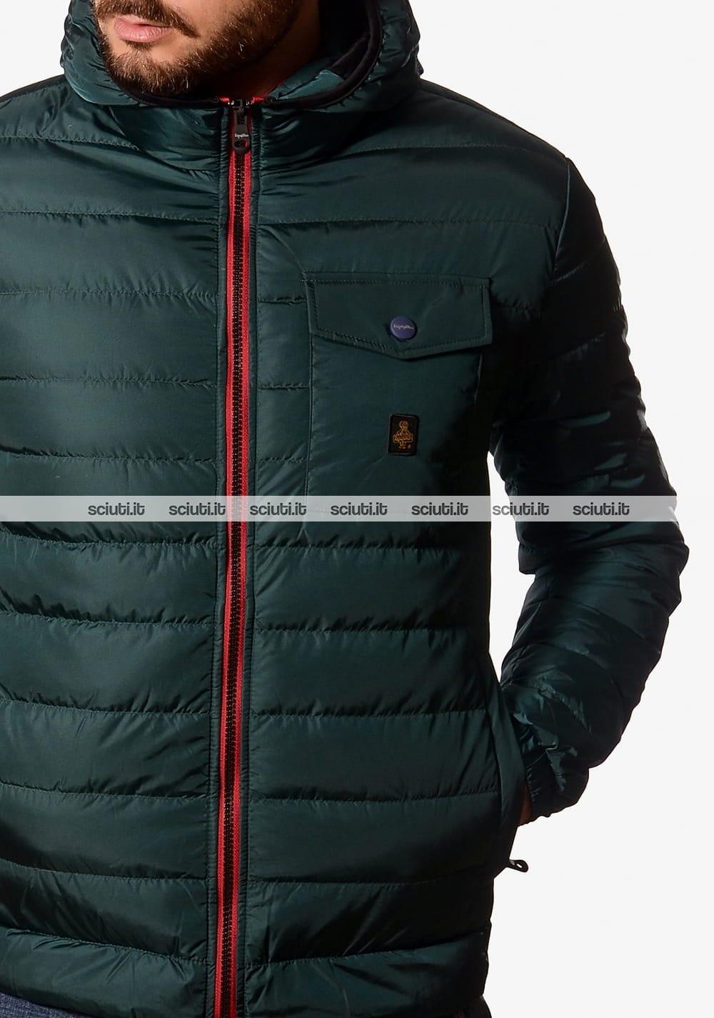 Piumino Refrigiwear uomo Hunter con cappuccio verde scuro  119c7e8bfe8
