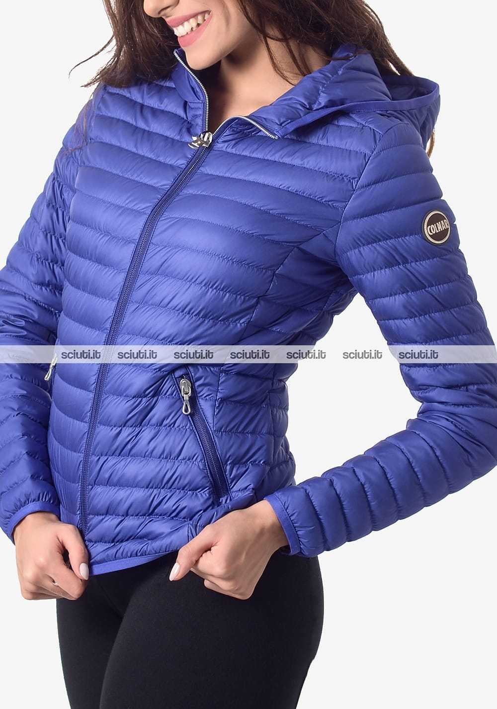 on sale 7ba96 8dad3 Piumino Colmar donna leggero con cappuccio azzurro | Sciuti.it