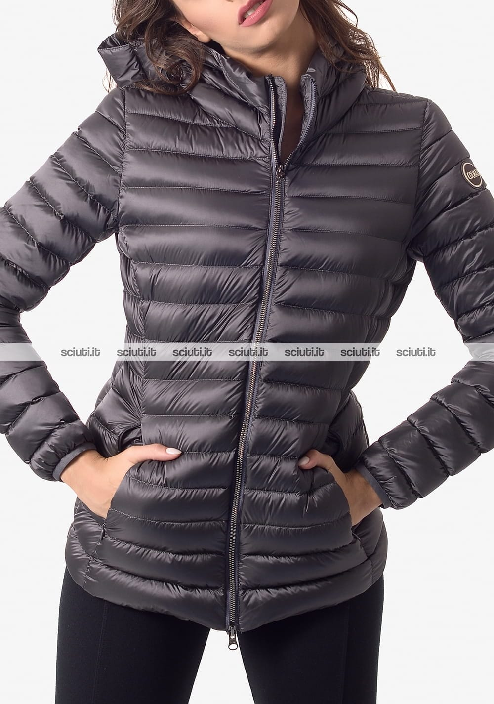 Piumino pesante Colmar donna con cappuccio grigio | Sciuti.it