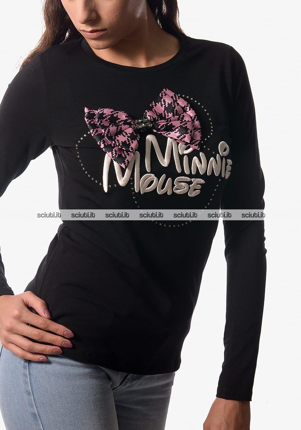 Maglietta a Maniche Lunga Disney Topolina Ragazza Minnie Mouse