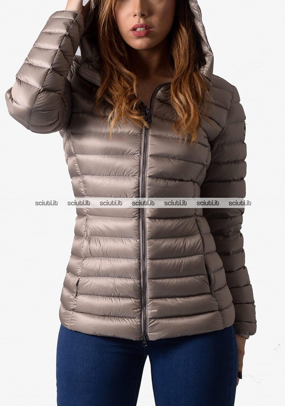 quality design d90f1 24336 Piumino pesante Colmar donna con cappuccio grigio chiaro
