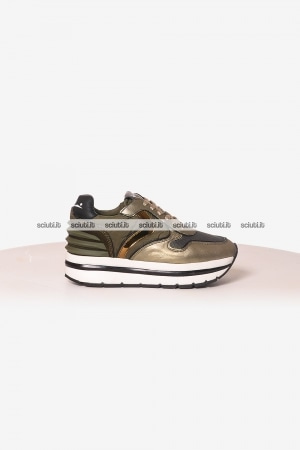 Scarpe Voile Blanche donna May Power platino verde