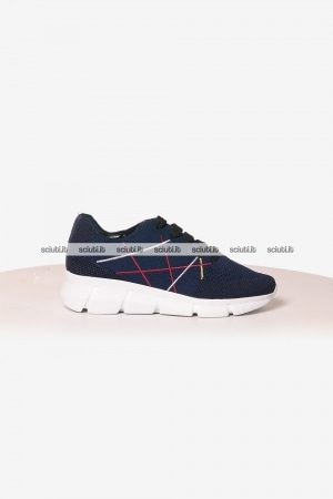 Scarpe Lake uomo Mr Big Hi-Tech blu navy bordeaux
