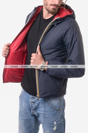 Giubbotto Kway uomo Jacques Warm double blu scuro rosso