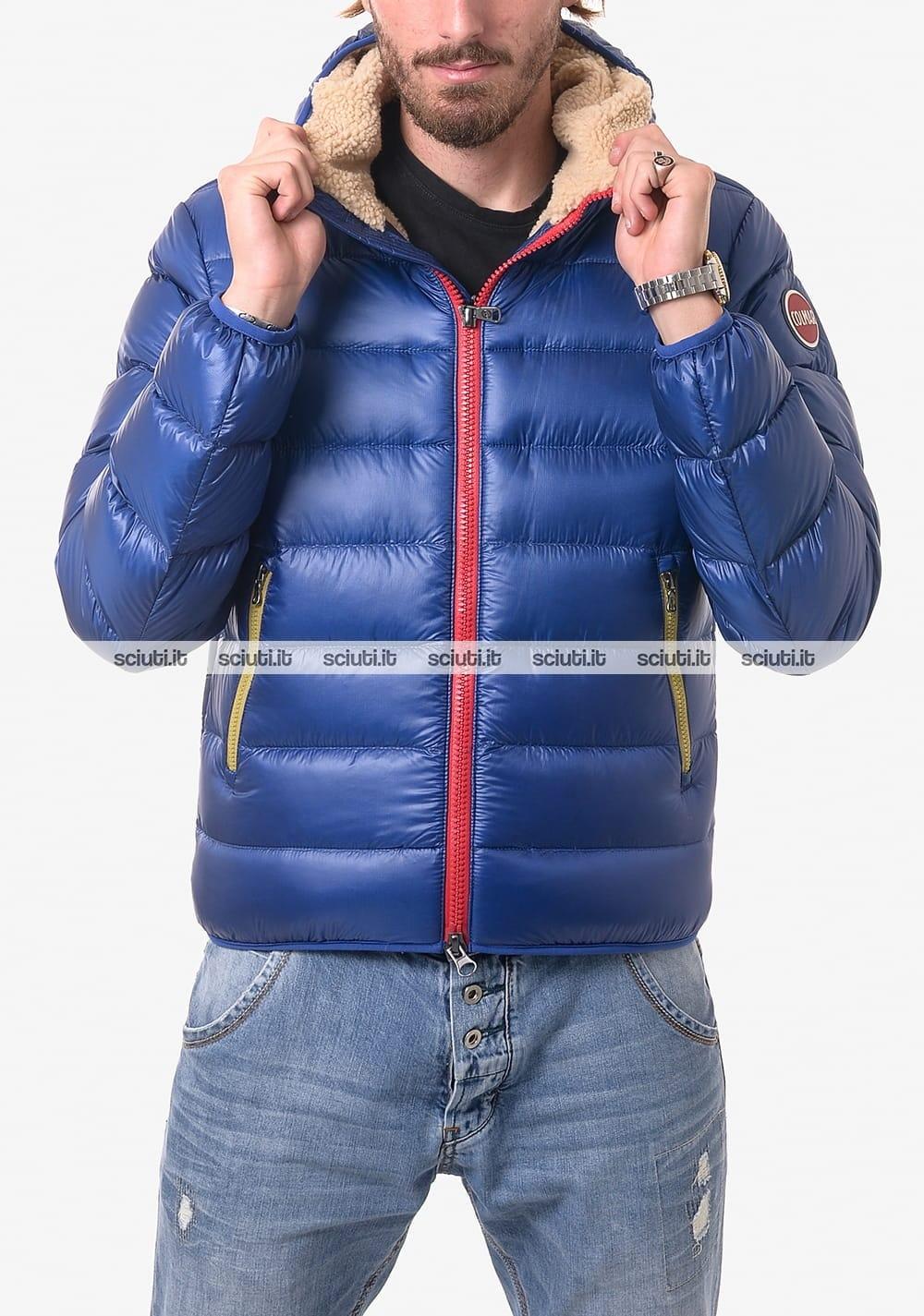 online retailer 42c82 34905 Giubbotto Colmar uomo pesante lucido imbottito blu royal ...