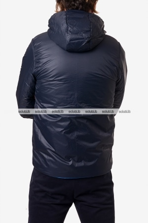 Giubbotto Kway uomo Jacques warm double celeste blu scuro