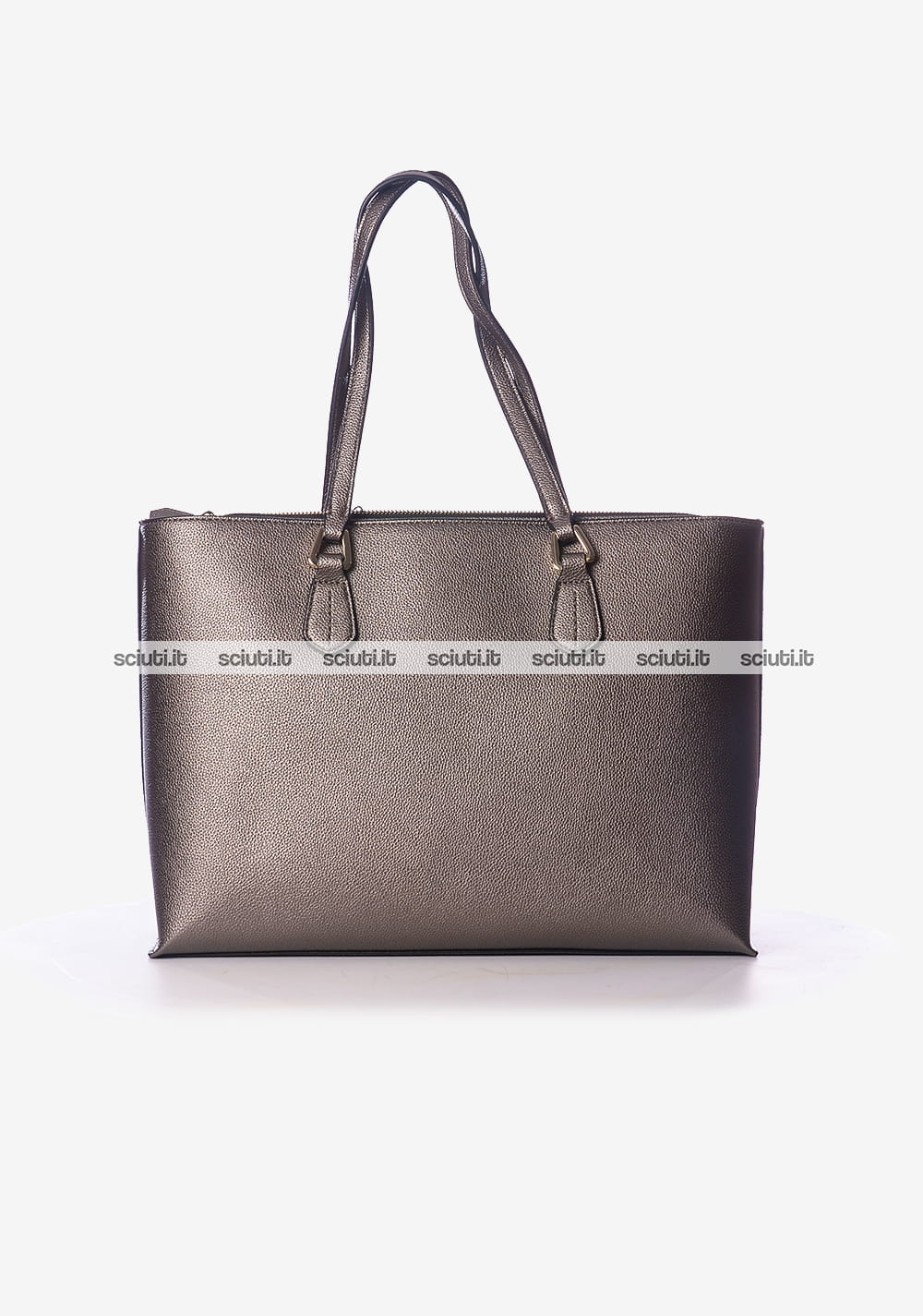 Borsa shopping grande Emporio Armani donna logo grigio