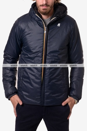 Giubbotto Kway uomo Jacques Warm double nero blu scuro