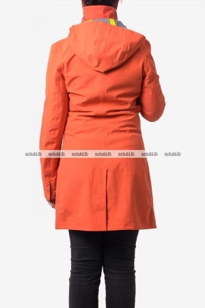 Giubbotto Kway donna Mathilde bonded Jersey arancione