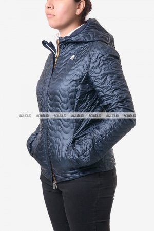 Giubbotto reversibile Kway donna Eden light thermo double blu scuro