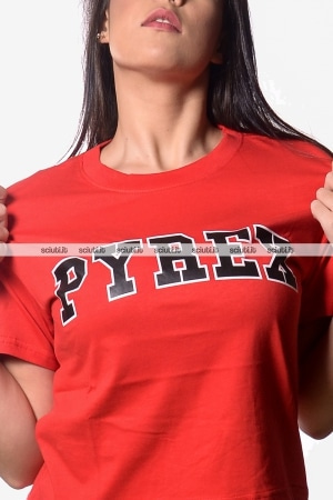 Tshirt Pyrex donna manica corta logo frontale rosso