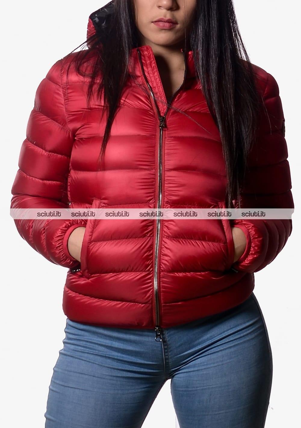 new style b1e98 c1112 Piumino Colmar donna pesante con cappuccio rosso