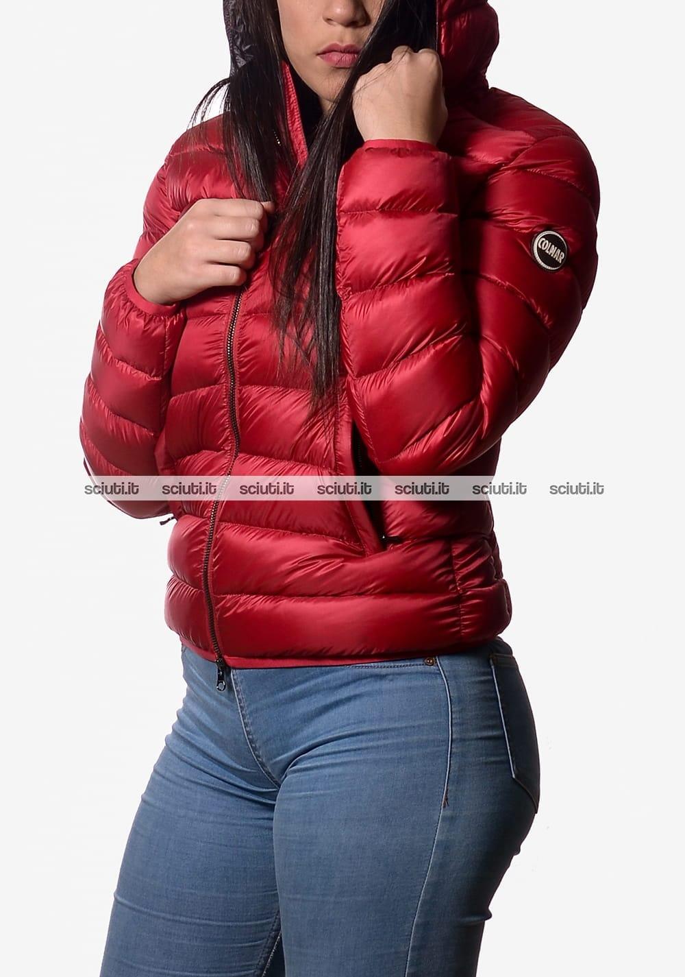 new style ee505 35c96 Piumino Colmar donna pesante con cappuccio rosso