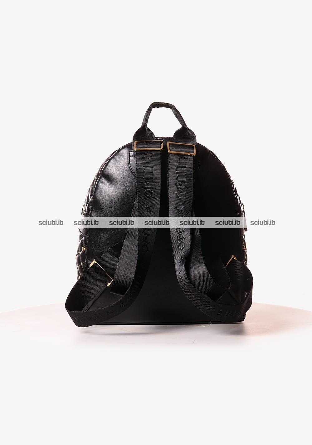 129.00 €77.40 Zaino piccolo Liu Jo donna nero con borchiette