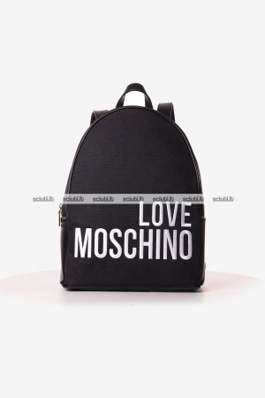 Zaino Love Moschino donna logo in contrasto nero