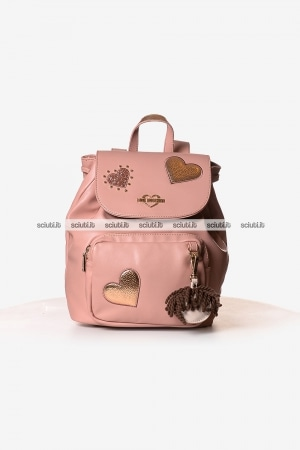 Zaino Love Moschino donna cuori charming doll rosa