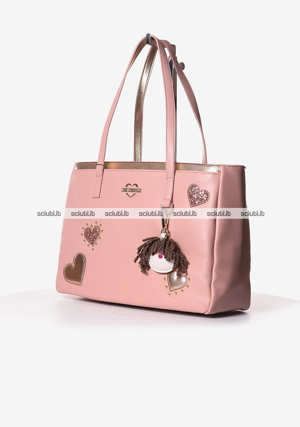 fb957c35ee Borsa shopping Love Moschino donna cuori charming doll rosa | Sciuti.it