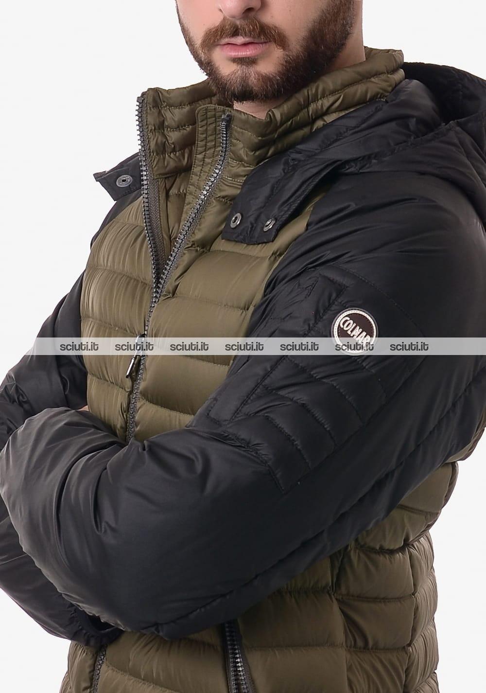 Piumino Colmar uomo leggero bicolor nero verde militare