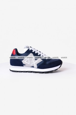 Scarpe Sun68 uomo Tom multicolor nylon blu navy