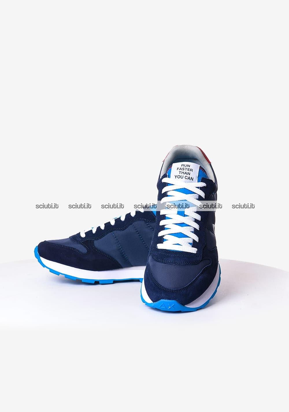 Scarpe Sun68 uomo Tom solid nylon blu navy turchese | Sciuti.it