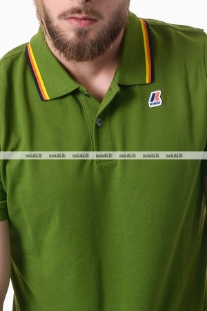 Polo Kway uomo Jude stripes verde