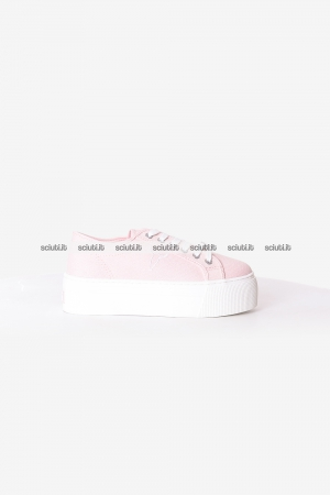 Scarpe Windsor Smith donna rosa Ruby platform