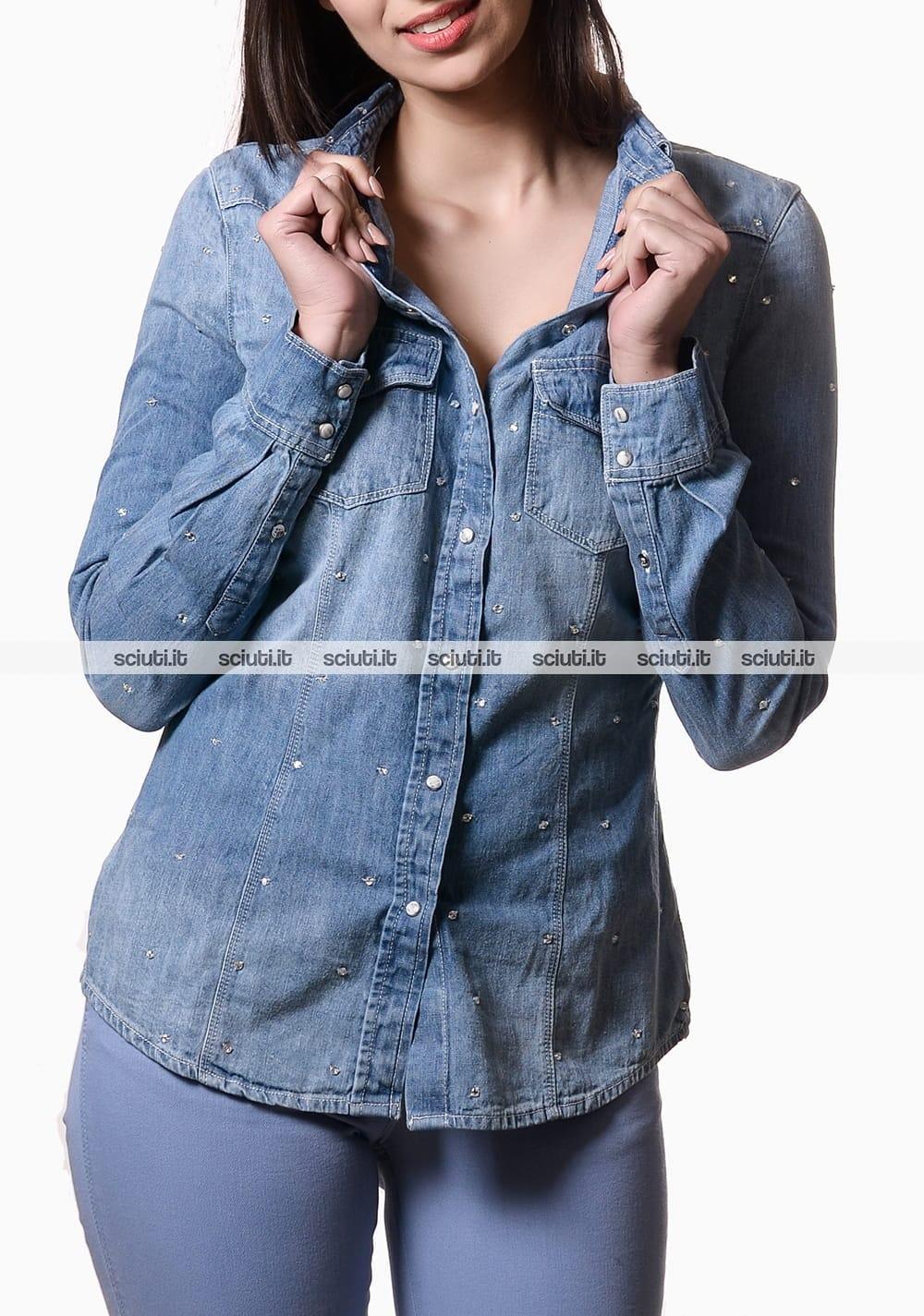 cheap for discount f43f5 a628c Camicia Guess donna applicazioni gioiello jeans | Sciuti.it