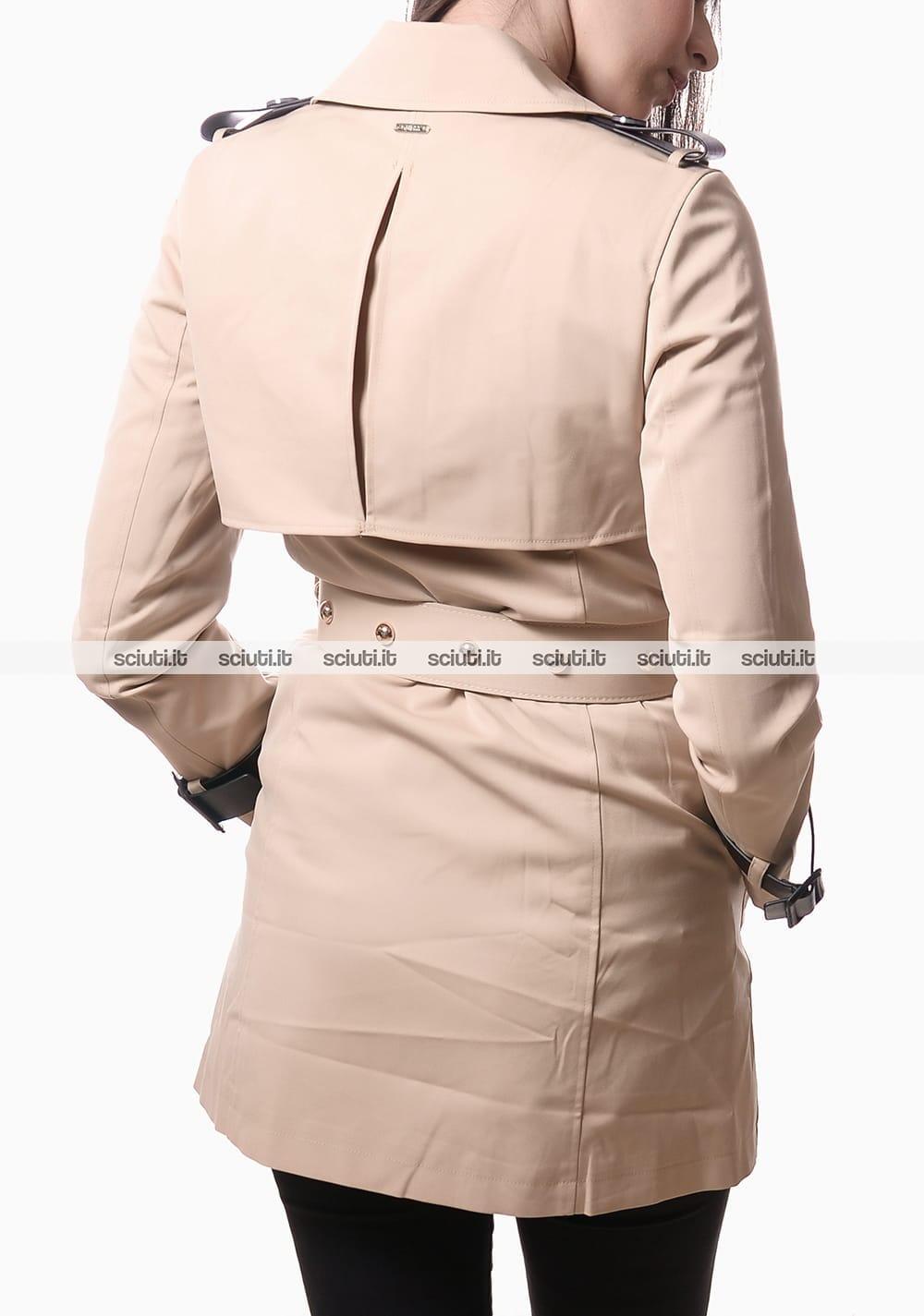 Trench Guess donna con cintura azzurro | Sciuti.it
