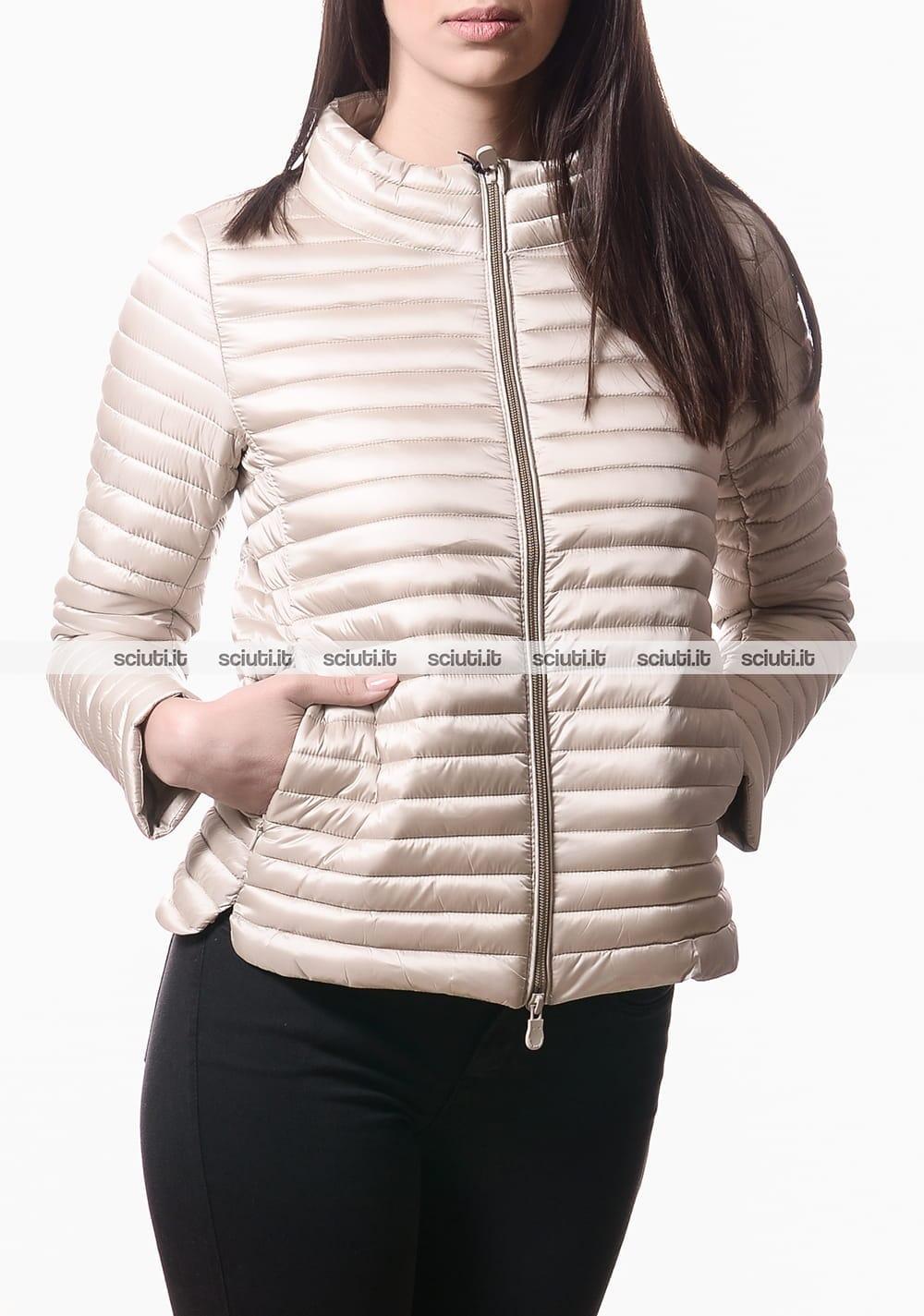 cheap for discount 5e0da 85a92 Piumino Save the duck donna senza cappuccio beige | Sciuti.it